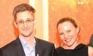 Edward Snowden and Sarah Harrison