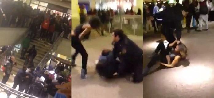 Chaos-at-the-Kings-Plaza-mall-in-Brooklyn-NY